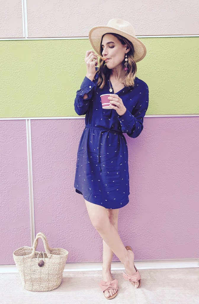 Navy Long Sleeve Gap Shirt Dres